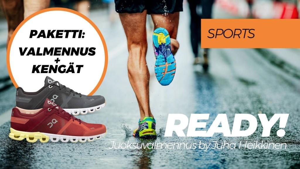 READY! -juoksuvalmennus + On Cloudflow -juoksukengät