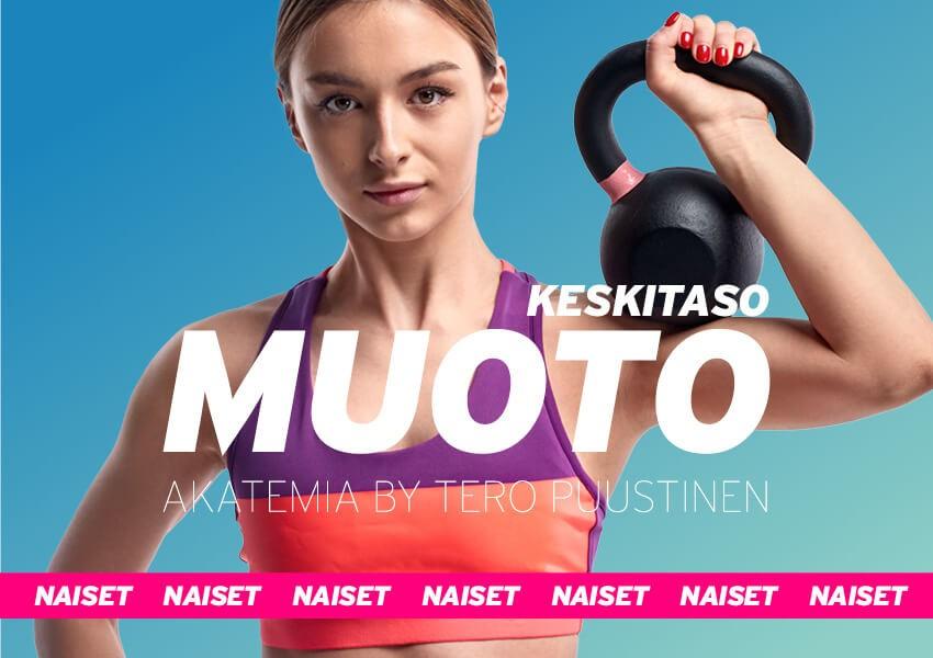 MUOTO akatemia // Keskitaso 8-viikon ohjelma naisille